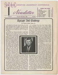 Southern Christian Leadership Conference Newsletter, Volume 2, Number 3, November-December, 1963