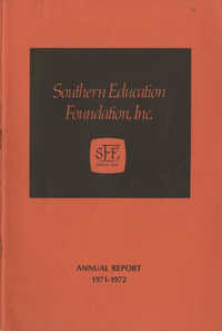 Southern Education Foundation, Annual Report 1971-1972