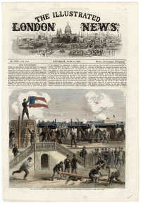 The war in America: scene at Fort Moultrie, first copy from the Illustrated London News