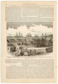 Illustrations of Fort Walker and naval battle scenes from The Pictorial Battles of the Civil War