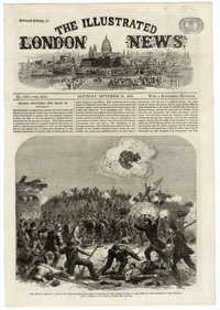 Assault on Fort Wagner, Charleston Harbour from Illustrated London News
