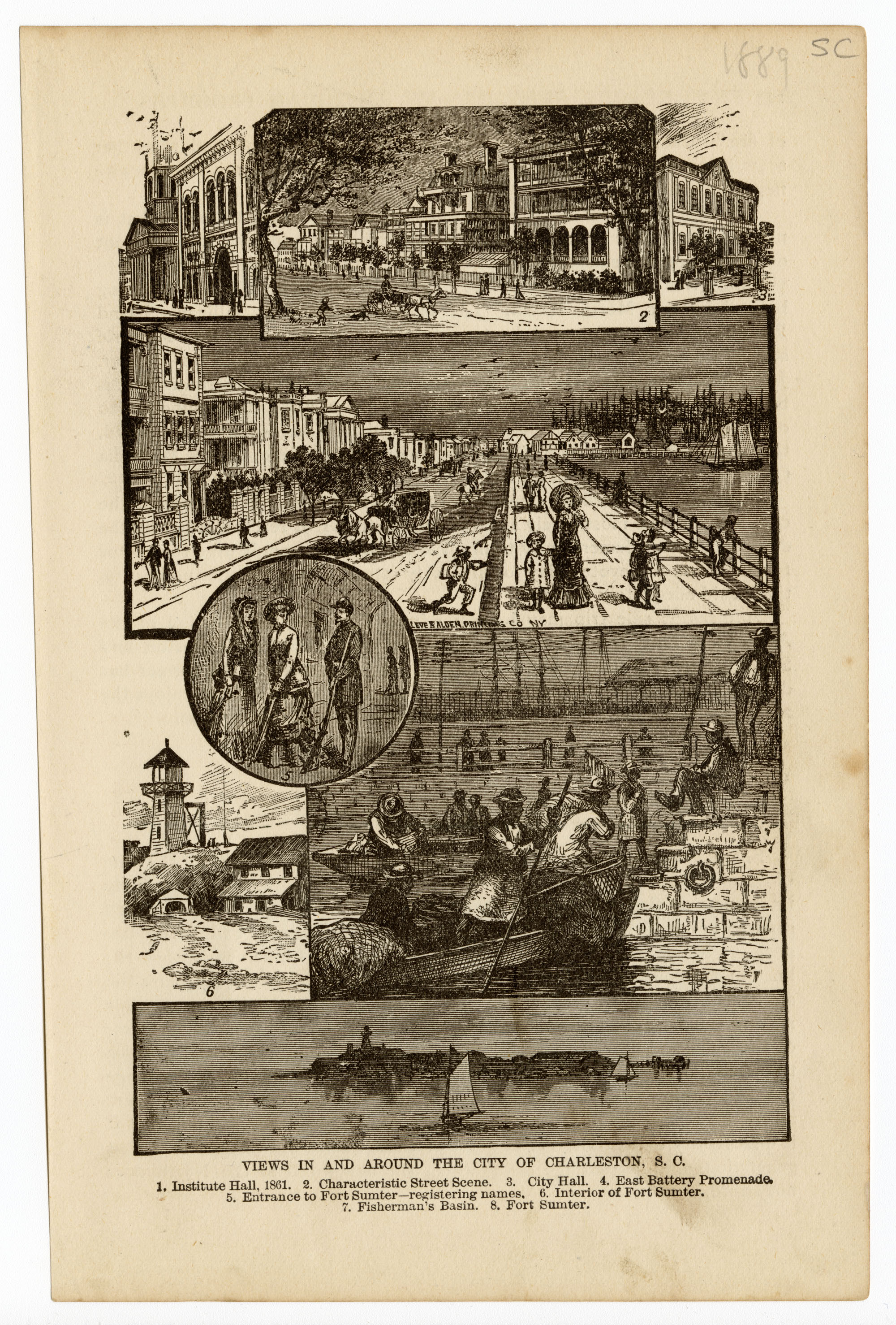 Views in and around the city of Charleston from Picturesque Sketches of American Progress