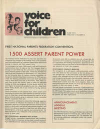 Voice For Children, Volume 5, Number 6