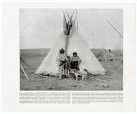Native American couple with dog