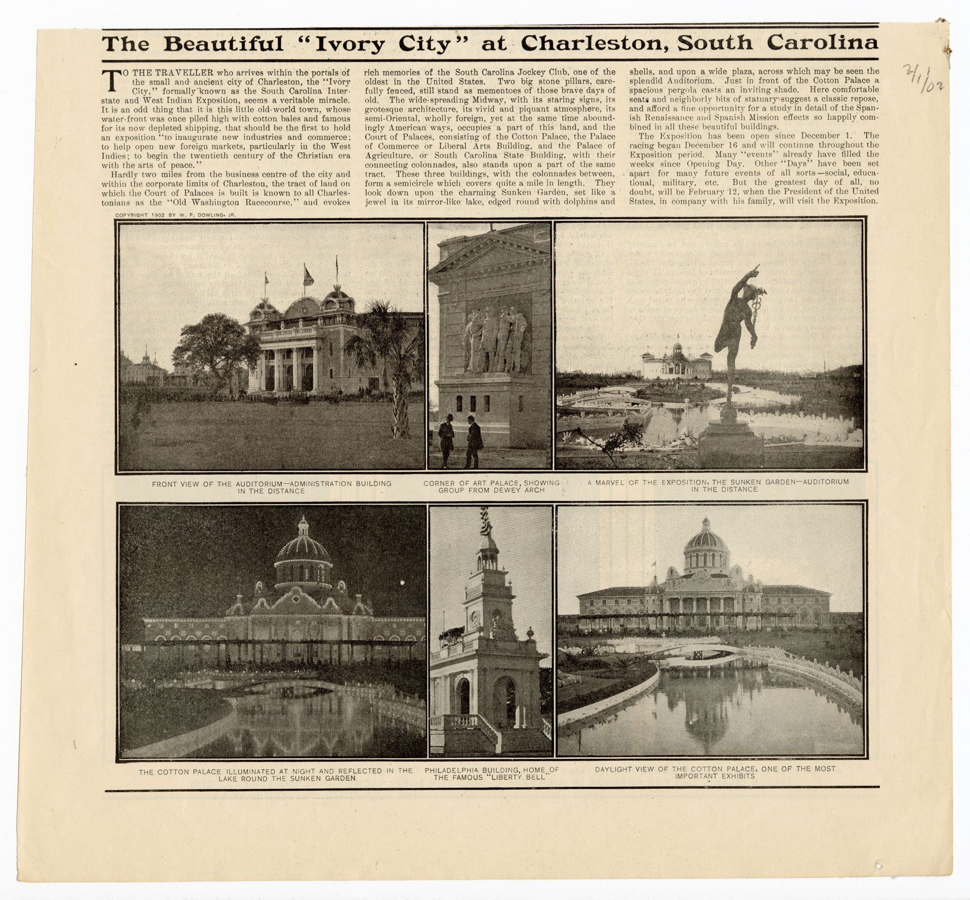 The Beautiful 'Ivory City' at Charleston, South Carolina