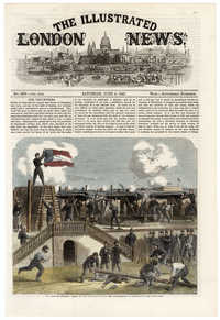 The war in America: scene at Fort Moultrie, second copy, form the Illustrated London News