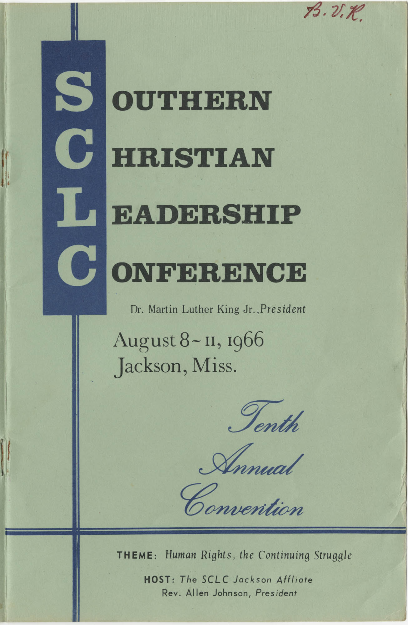 Southern Christian Leadership Conference, Tenth Annual Convention