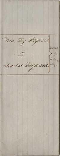 125. Bond between William Henry Heyward and Charles Heyward -- July, 1851