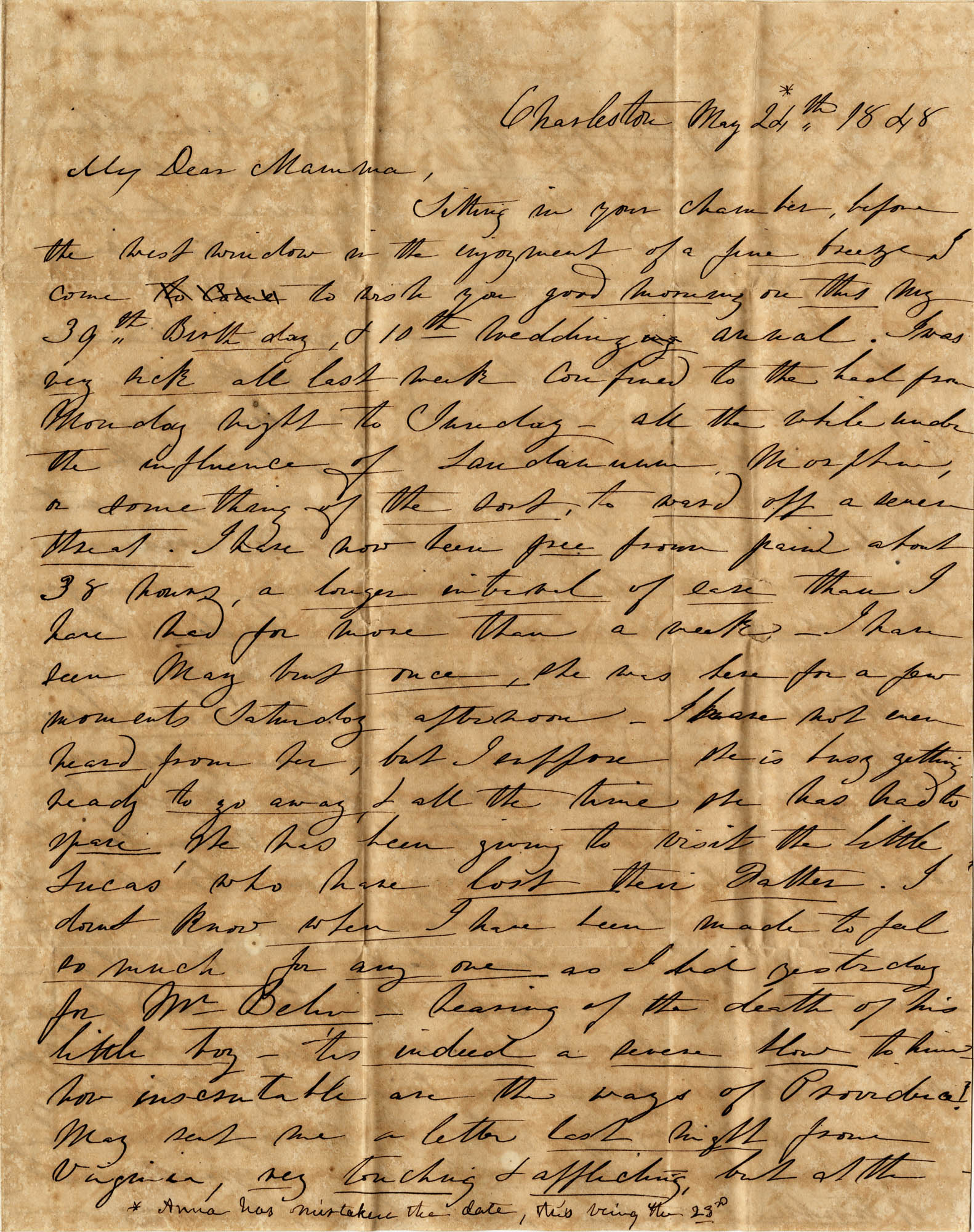 032. Anna Wilkinson to Eleanora Wilkinson -- May 23, 1828