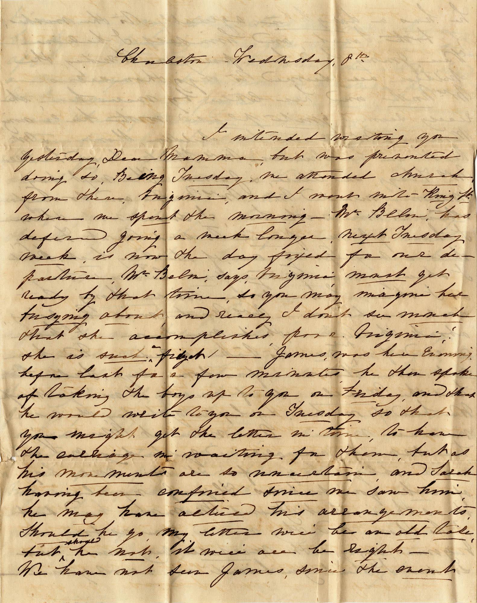 040. Sarah to Eleanora Wilkinson -- 8th, n.d.