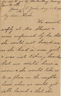 121. Magdelen Elizabeth Wilkinson Marshall (nee Keith) to Alex Marshall -- Aug. 12, 1893