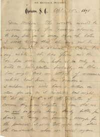 109. Alex Marshall to Magdalen Elizabeth Wilkinson Keith (nee Keith) -- Apr. 15, 1878