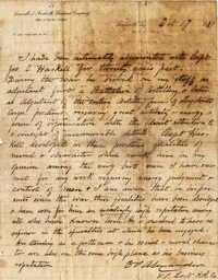 008. Edward Porter Alexander, in regards to Capt. Joseph C. Haskell