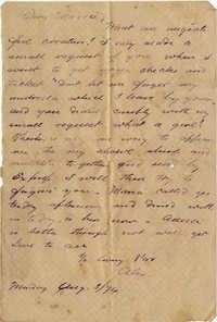 107. Alex Keith (brother) to Magdelen Elizabeth Wilkinson Marshall [nee Keith] -- Aug. 3, 1874