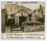 Survey photo of the Powder Magazine (21 Cumberland Street)