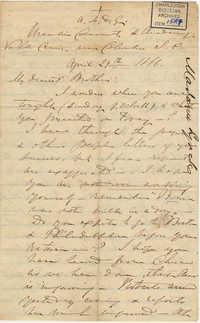 409. Madame Baptiste to Bp Patrick Lynch -- April 29, 1866
