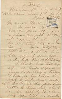 402. Madame Baptiste to Bp Patrick Lynch -- April 1, 1866