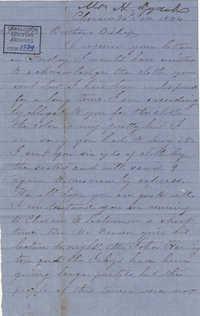343. Henrietta Lynch to Bp Patrick Lynch -- January 26, 1864