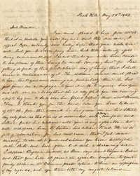 025. Mary Wilkinson Memminger to Eleanora Wilkinson -- May 28, 1842