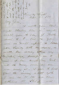 114. Alex Marshall to Magdelen Elizabeth Wilkinson Marshall (nee Keith) -- Sept. 21, 1879