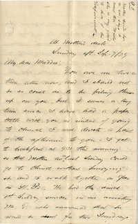 111. Alex Marshall to Magdelen Elizabeth Wilkinson Marshall (nee Keith) -- Sept. 7, 1879