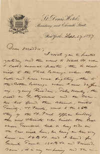 118. Alex Marshall to Magdelen Elizabeth Wilkinson Marshall (nee Keith) -- Sept. 17, 1897