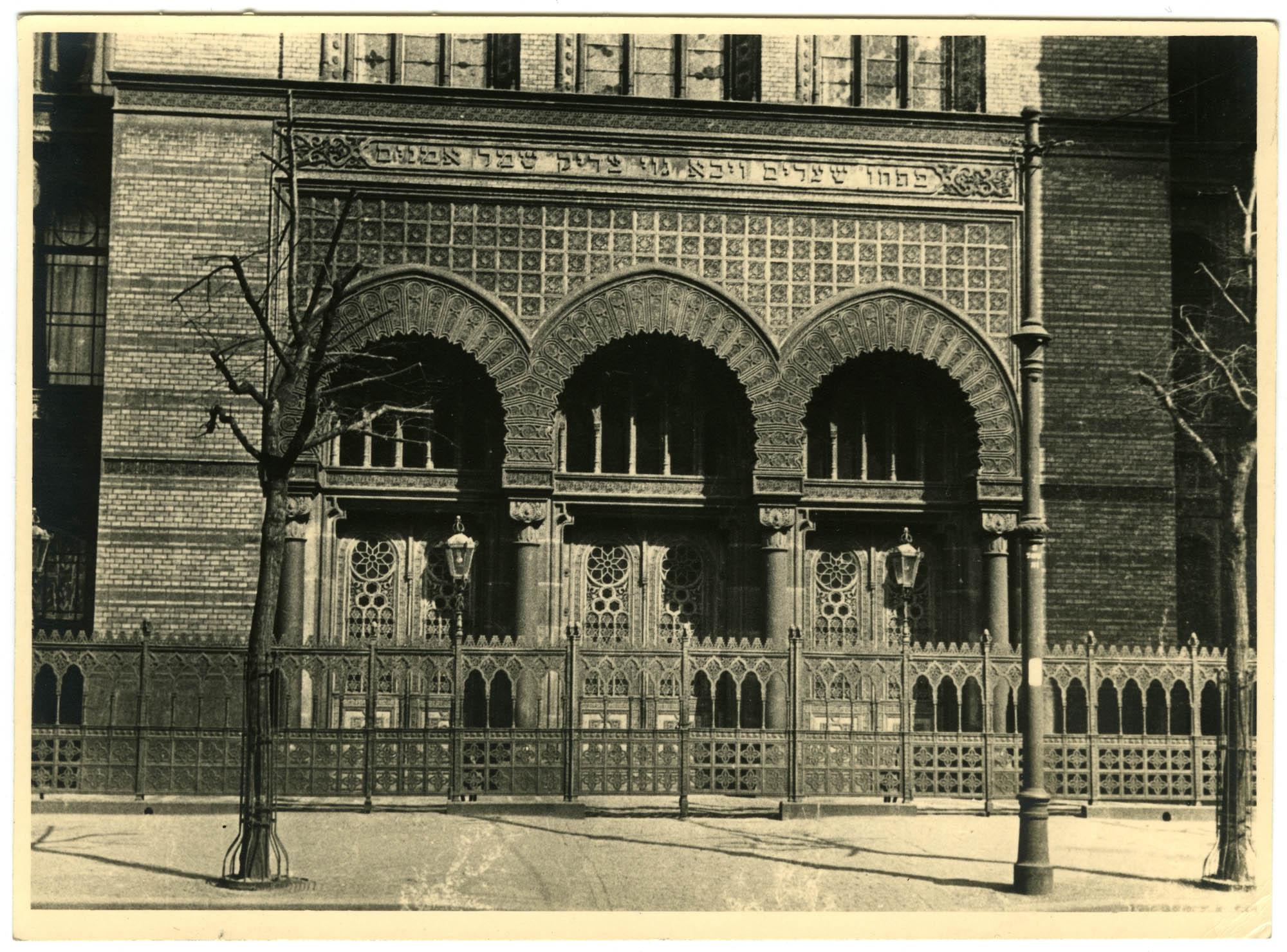 [Neue Synagoge in der Oranienburgerstrasse]