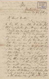 063. Madame Baptiste to Bp Patrick Lynch -- July 27, 1859