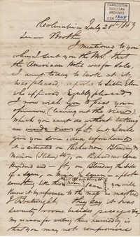 064. John Lynch to Bp Patrick Lynch -- July 28, 1859