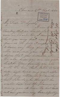 127. Henrietta Lynch to Bp Patrick Lynch -- September 4, 1860