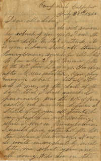 092. Willis Keith to Maddie Keith -- July 30, 1863