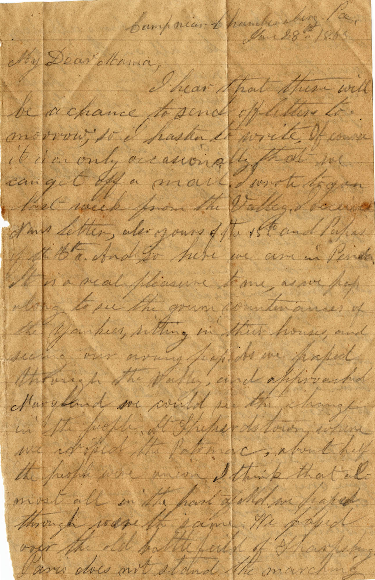 088. Willis Keith to Anna Bell Keith -- June 28, 1863