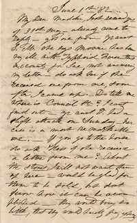 140. Anna Bella Keith to Magdelen Elizabeth Wilkinson Marshall (nee Keith) -- June 1, 1882