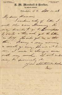 149. Maynard Marshall to Magdalen Elizabeth Wilkinson Keith and Alex Marshall -- Sept. 10, 1886