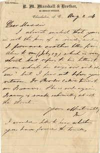 144. Maynard Marshall to Magdalen Elizabeth Wilkinson Keith -- July 31, 1886