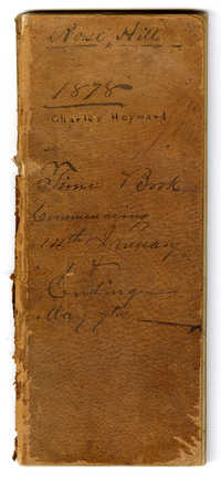 Rose Hill, 1878, Charles Heyward, Time Book, Commencing 14th January and Ending May 7th.