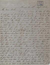 010. Hugh Lynch to Bp Patrick Lynch -- August 4, 1858