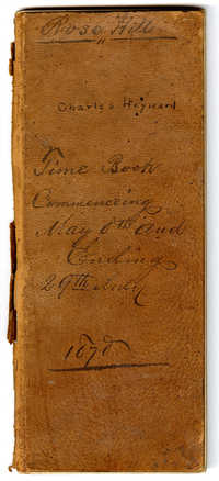 Rose Hill, Charles Heyward, Time Book, Commencing May 8th and Ending 29th July, 1878