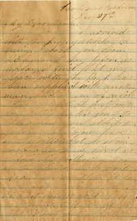 098. Willis Keith to Anna Bell Keith -- De27, 1863?