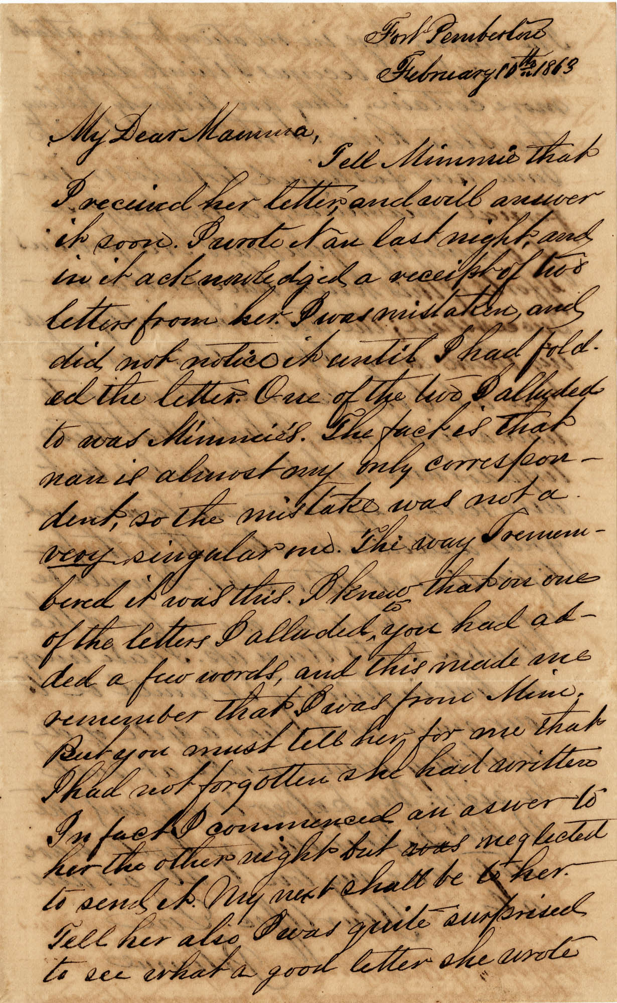 097. John Keith to Anna Bella Keith -- February 10, 1863