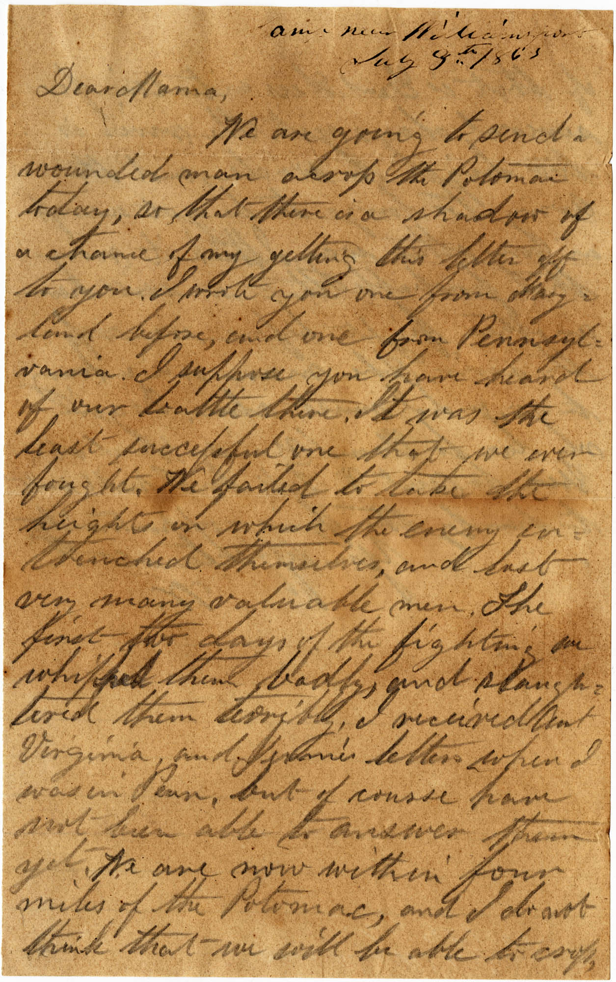 089. Willis Keith to Anna Bell Keith -- July 9, 1863