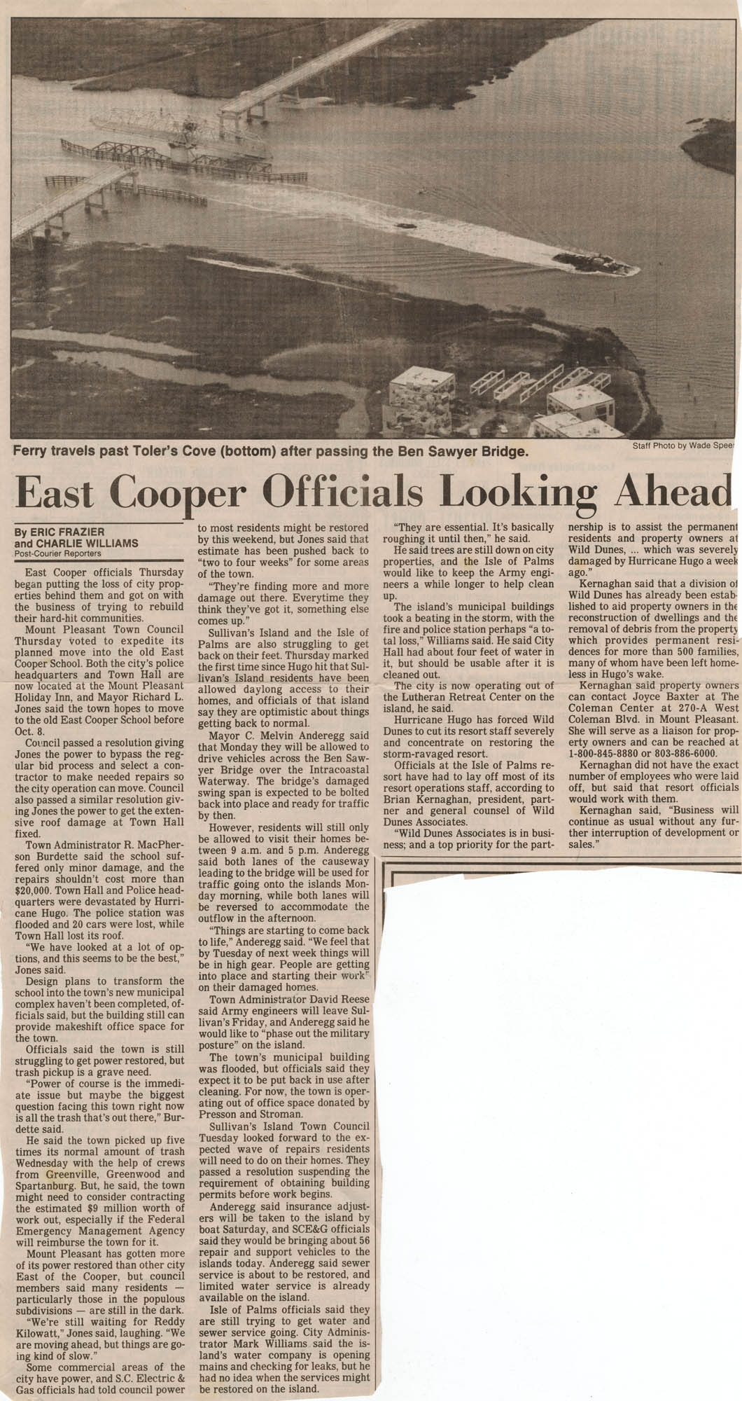 241. Newspaper article  -- n.d.