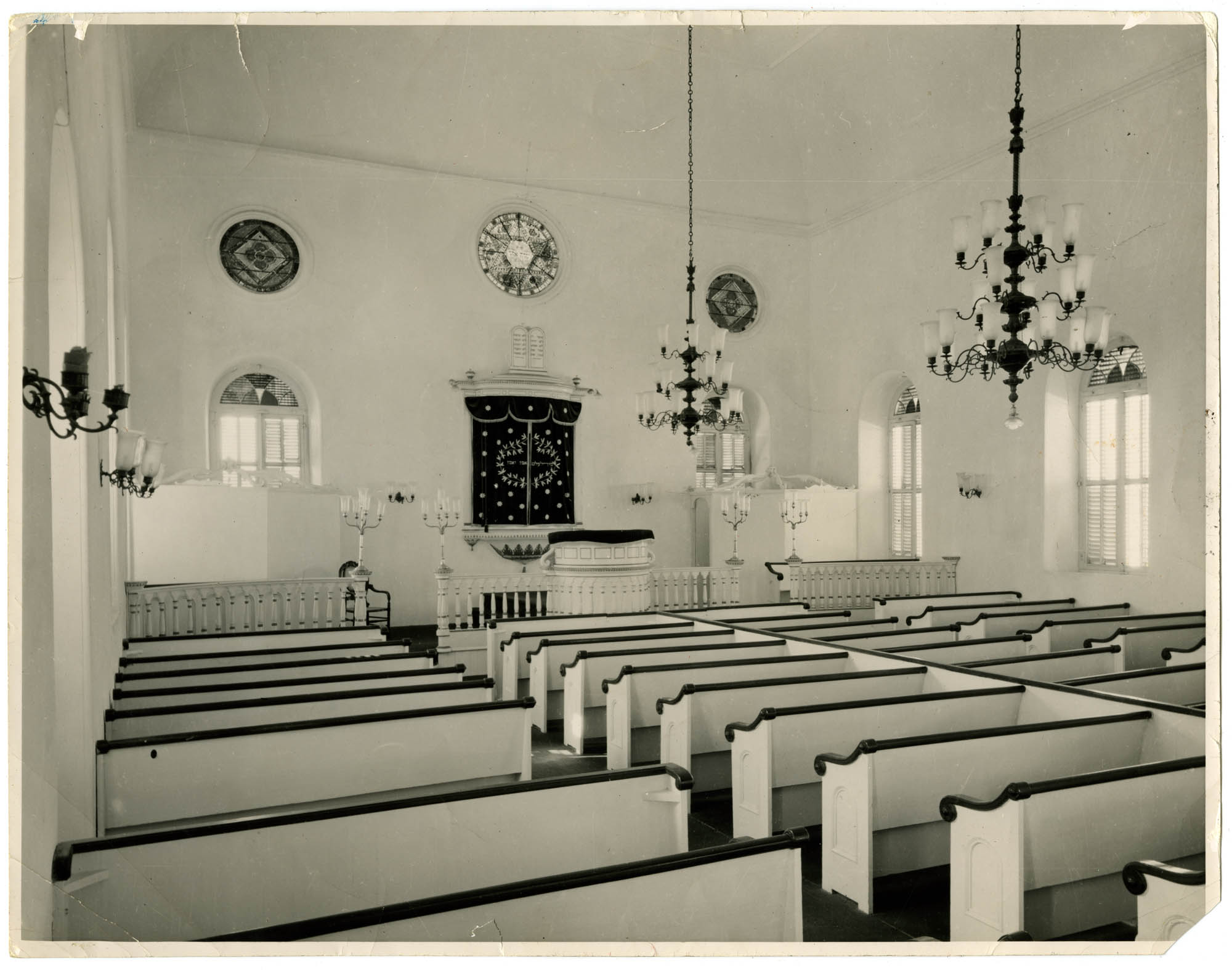 [The interior of the Reform Temple Emanuel in Curaçao, Dutch W. Indies]