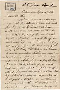 153. John Lynch to Bp Patrick Lynch -- April 12, 1861
