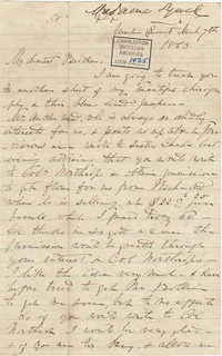 270. Madame Baptiste to Bp Patrick Lynch -- March 7, 1863