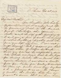 265. Anna Lynch to Bp Patrick Lynch -- February 12, 1863