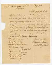 Letter from Nathaniel Russell to Samuel and William Vernon, May 1768