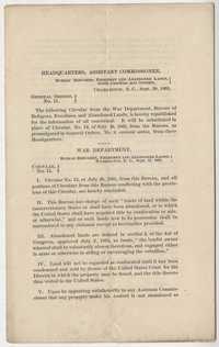 245. Printed circular from War Department -- September 28, 1865