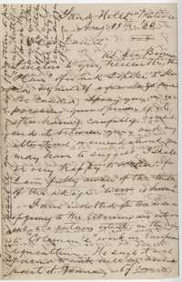 253. Letter to James Heyward from J.H. Trapier -- August 18, 1865