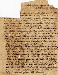 046. Anna Keith to Paul Trapier Keith -- April 19, 1844